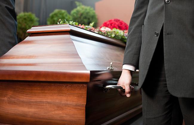 Beerdigung Sarg