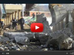 Mauer in Mitrovica abgerissen