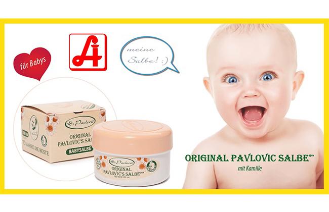 PAVLOVIC BABYSALBE – in allen Apotheken erhältlich