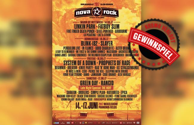 KOSMO verlost 2x2 Tickets für das Nova Rock Festival - KOSMO