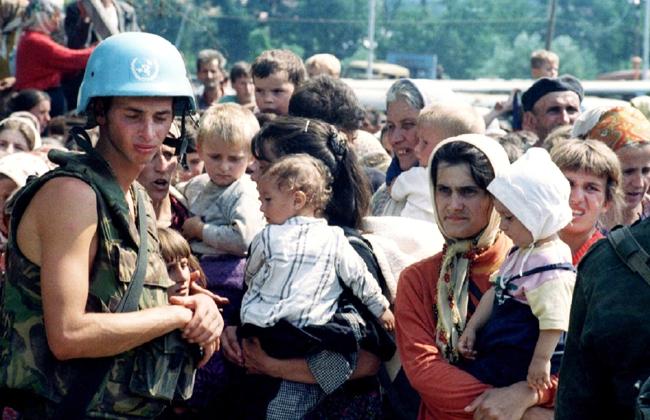 UN-Soldaten Srebrenica