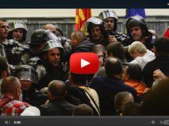 Sturm auf mazedonisches Parlament