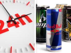 24 Stunden nach Konsum Energy Drink