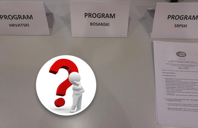 Bosnisches Parlament - Program auf BKS