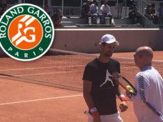 Novak Djokovic & Agassi erstes Traning