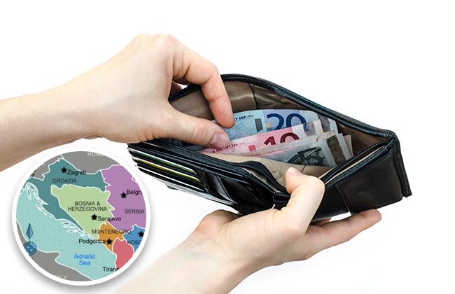 Durchschnittsgehalt am Balkan 2017