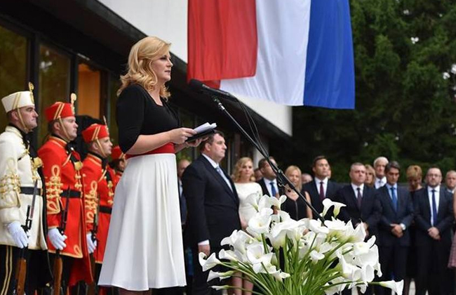 Grabar-Kitarovic - Staatsfeiertag 2017