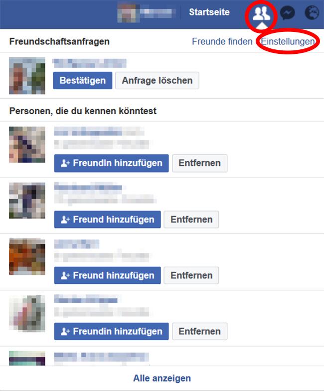 Freundschaftsanfragen Facebook Trick