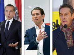 Kern Kurz Strache - Nationalratswahl