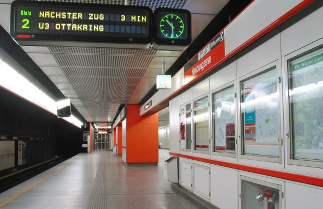 U3 U-Bahnstation Neubaugasse
