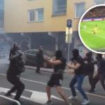 Maribor: Hooligans prügeln sich mit der Polizei, Schiri beschossen (VIDEOS)