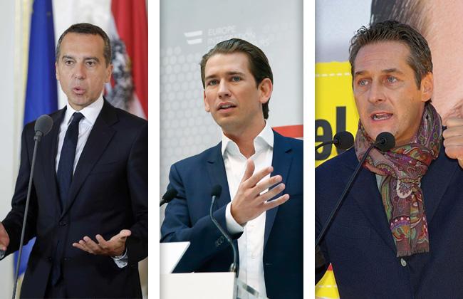 Kern-Kurz-Strache-Nationalratswahl