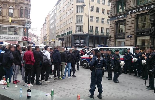 Rijeka Fans in Wien aufgehalten 2