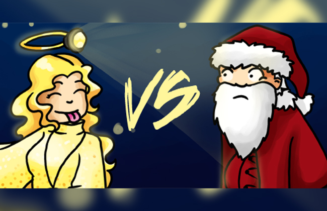 Christkind oder Weihnachtsmann