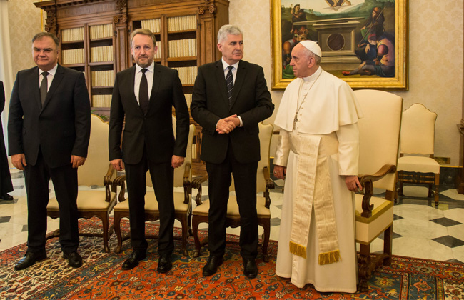 Syrien-Sorge von Papst Franziskus