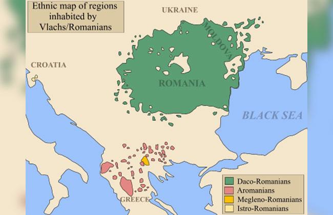 Aromunische-Sprache-Verbreitung
