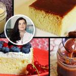 """""""Hanuma kocht"""" nassen Milchkuchen mit Karamellcreme oder Sahne & Früchten"""