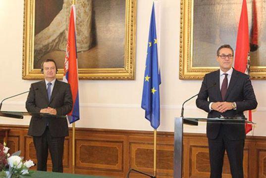 Pressekonferenz Dačić Strache