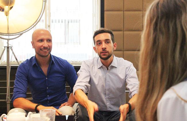 Asim Aliloski und Laurent Amann