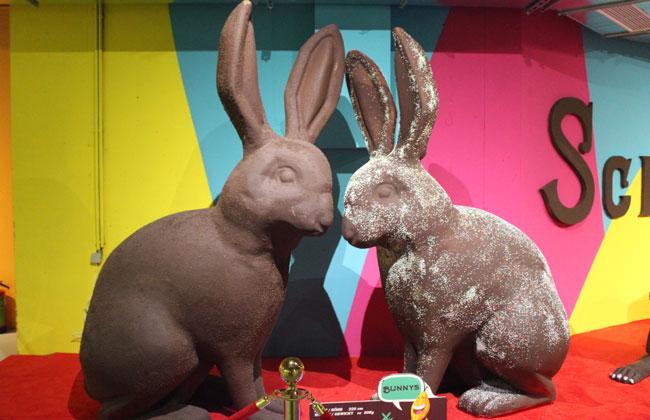 Kaninchen aus Schokolade