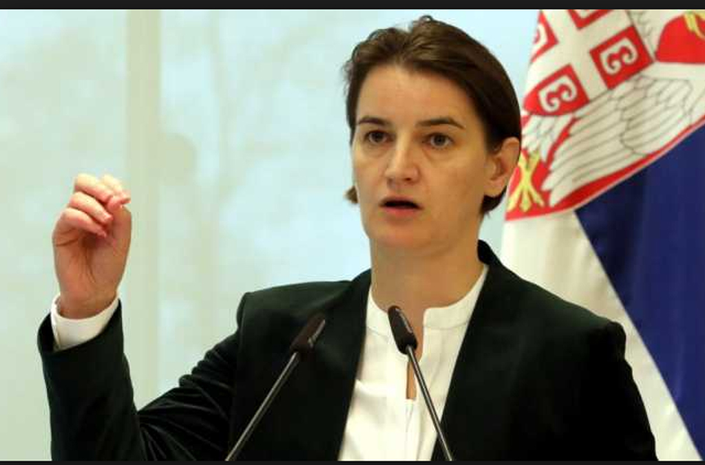 Brnabic Regierungschefin Serbien Drohung Armee