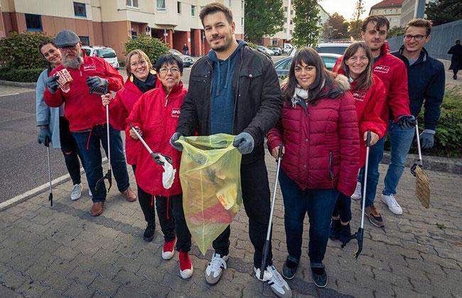 Niko Poljak SPÖ Favoriten 9er Sektion Müllsammelaktion