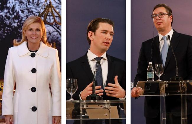 Kolinda Grabar-Kitarović Sebastian Kurz Aleksandar Vučić