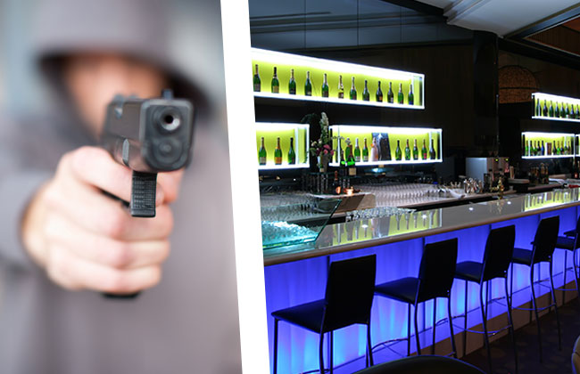 Lokal-Pistole-Kroate-Partymeile