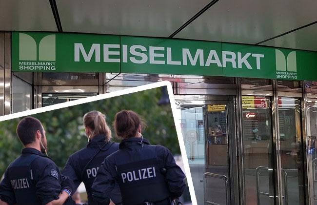 Meiselmarkt-Polizeieinsatz-Waffe