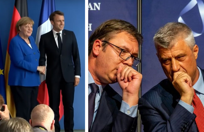 Balkankonferenz-Berlin-Merkel-Macron-Thaci-Vucic