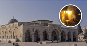 Feuer-in-Al-Aqsa-Moschee