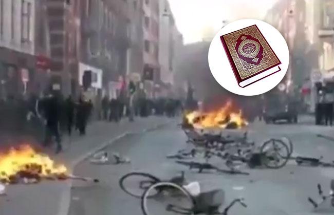 Islamkritiker verbrennt Koran