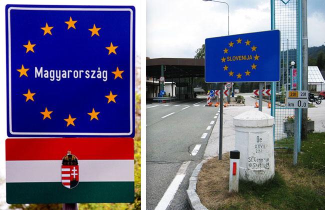 Slowenien-Ungarn-Grenze