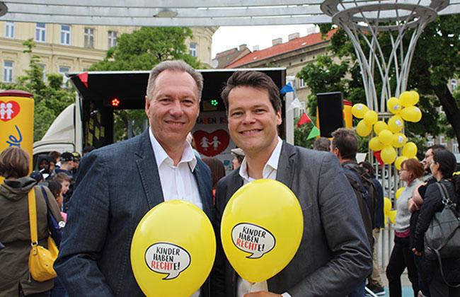 Ganz Wien feiert 30 Jahre Kinderrechte