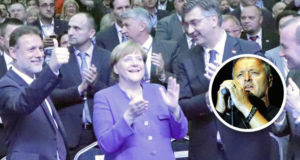 Angela-Merkel-applaudiert-zu-Thompson-Song