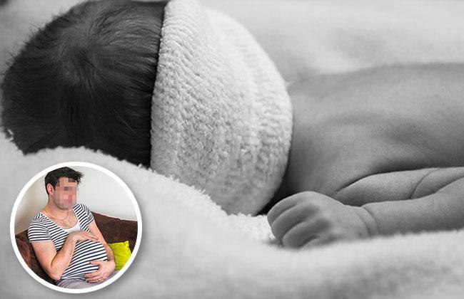 Schwangerer Mann bringt totes Baby auf die Welt