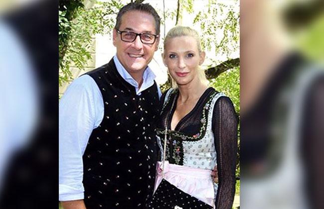 Heinz Christian Strache und Philippa