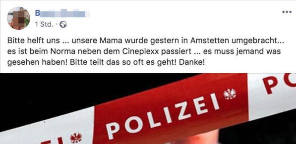 Hilferuf-ermordete-Mutter-Tochter-Facebook-Amstetten