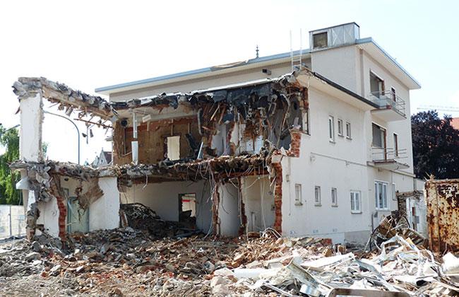 Haus demoliert