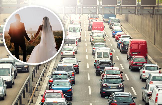 Hochzeit auf der Autobahn