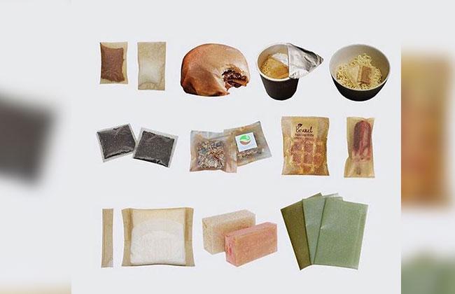 Verpackung aus Algen