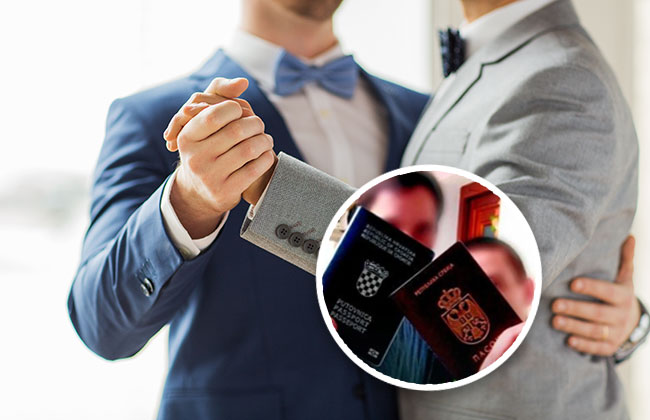 Erste Gay Hochzeit Serbe Und Kroate Feiern Fünften