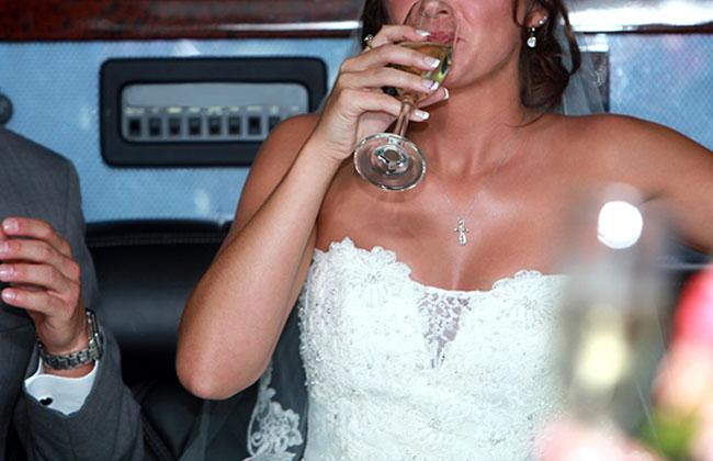 Betrunkene Braut