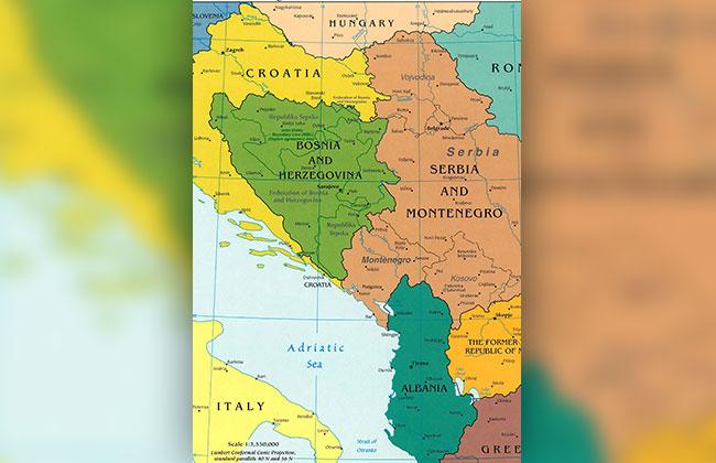 Landkarte Balkan