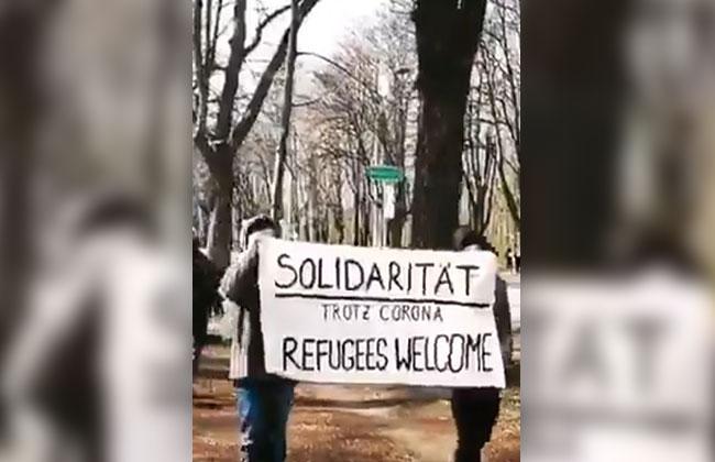 PRATERALLEE_DEMONSTRATION_REFUGEES_WELCOME_CORONAVIRUS_POLIZEI_MIGRANTEN