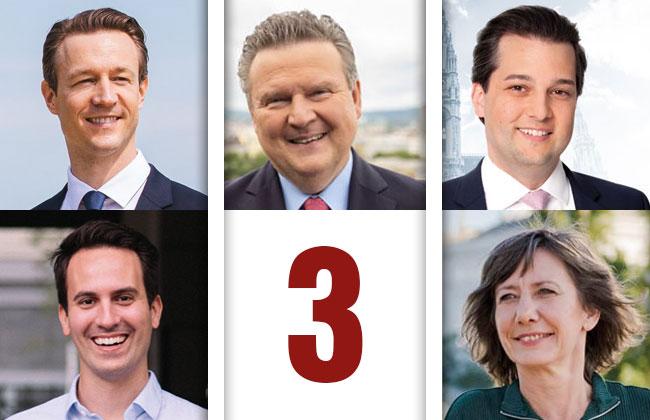 Direktvergleich: 3 Fragen an die Spitzenkandidaten bei der Wien-Wahl