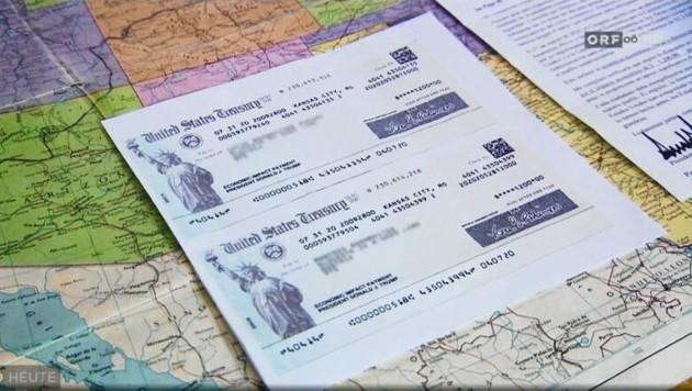 Diesen Scheck hatten zahlreiche Oberösterreicher in der Post. (Bild: ORF Oberösterreich, Kronen Zeitung)