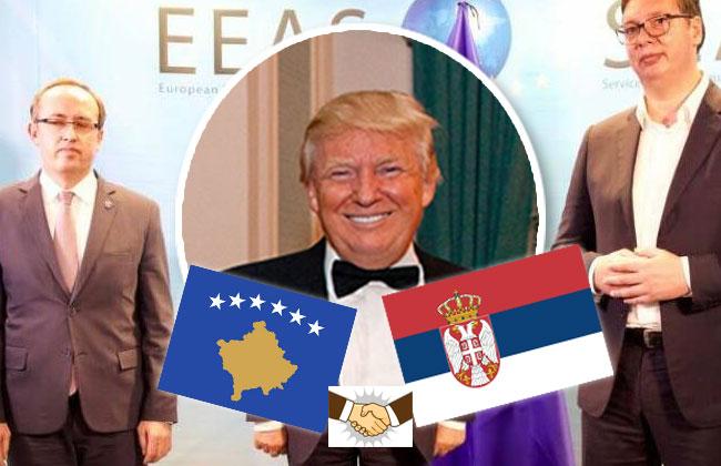 Donald_Trump_US_Präsident_Vucic_Hoti_Serbien_Kosovo