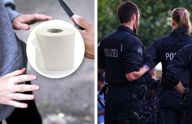 POLIZEI_MESSER_DROHUNG_KLOPAPIER