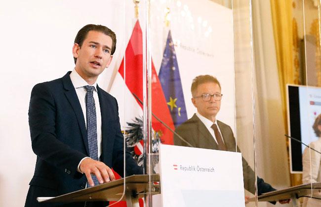 Pressekonferenz_Oesterreich_Kurz_Anschober_Kogler_Nehammer_Coronavirus